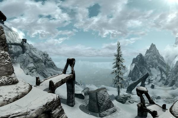 Skyrim 360° panoramic time lapse